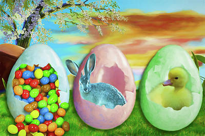 Digital Art - Happy Easter by John Haldane