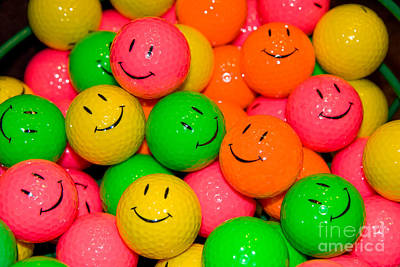 Claude Monet - Happy Face Golf balls by Anthony Totah