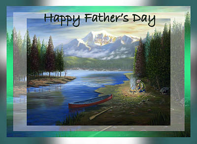 Painting - Happy Father's Day by Saeed Hojjati