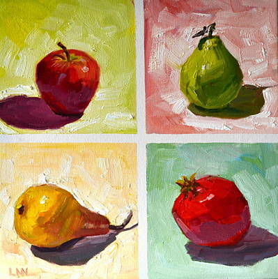 Painting - happy Fruits by Ningning Li