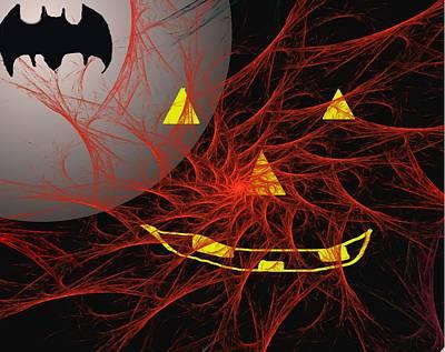 Digital Art - Happy Halloween  by David Lane