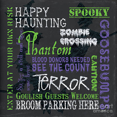 Happy Haunting Art Print