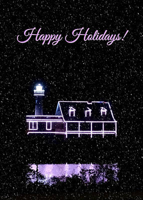 Photograph - Happy Holidays Lights by Brenda Conrad