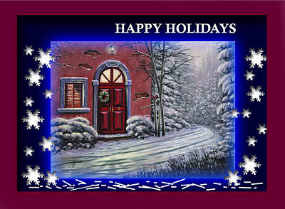 Painting - Happy Holidays by Saeed Hojjati