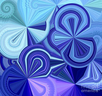 Kaleidoscope Digital Art - Parade Of Shapes by Krissy Katsimbras