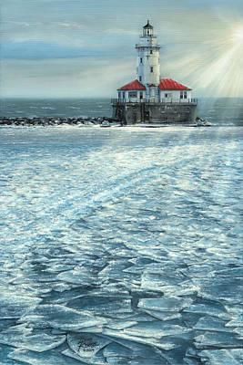 Harbor Light Art Print by Doug Kreuger