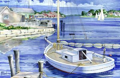 Harbor Painting - Harbor View by Paul Brent