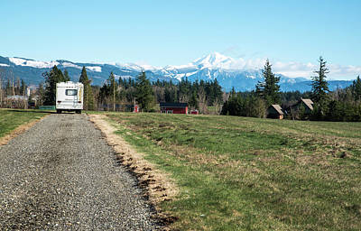Photograph - Hard Travelin' Towards Mt Baker by Tom Cochran