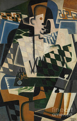 Harlequin With A Guitar, 1917 Art Print