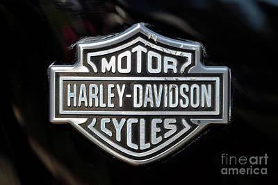 Transportation Photograph - Harley-davidson Badge by George Atsametakis