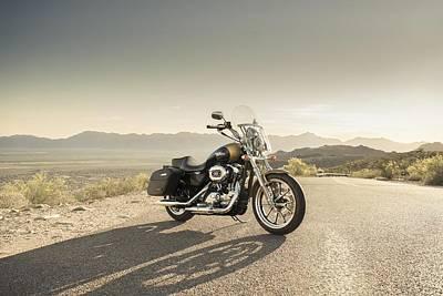Transportation Digital Art - Harley-davidson Superlow by Super Lovely