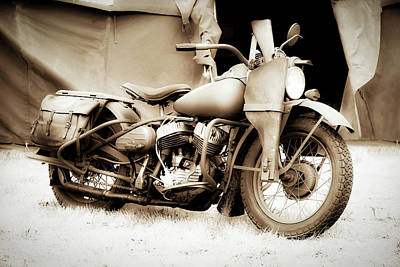 Photograph - Harley Davidson Wartime Motorcycle by Athena Mckinzie