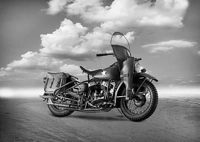 Harley Davidson Photograph - Harley Davidson Wla by Mark Rogan