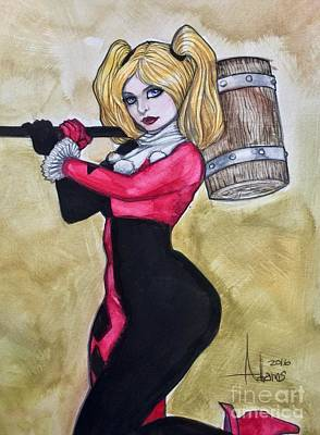 Painting - Harley Quinn by Jimmy Adams