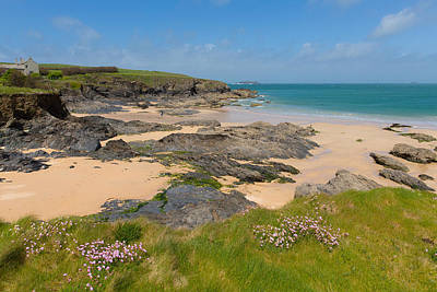 Trevone Photograph - Harlyn Bay North Cornwall England Uk Near Padstow And Newquay And On The South West Coast Path by Michael Charles