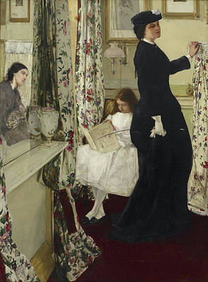 James Abbott Mcneill Whistler Painting - Harmony In Green And Rose - The Music Room by James Abbott McNeill Whistler