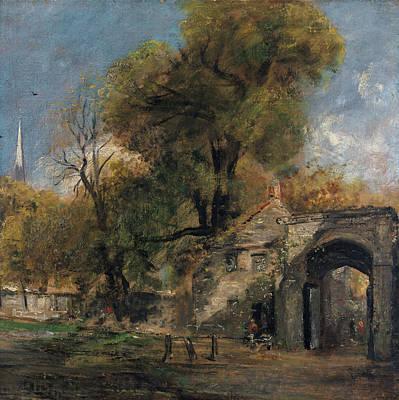 Streetscape Painting - Harnham Gate, Salisbury by John Constable