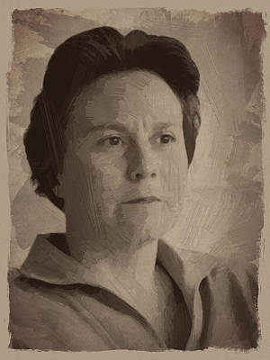 Portrait Digital Art - Harper Lee by Afterdarkness