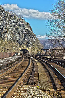Photograph - Harpers Ferry Tunnel by Daniel Houghton
