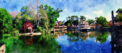 Magic Kingdom Digital Art - Harper's Mill by Sandy MacGowan