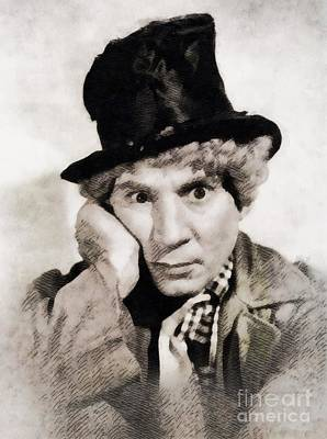 Musicians Royalty Free Images - Harpo Marx, Vintage Hollywood Legend Royalty-Free Image by Esoterica Art Agency