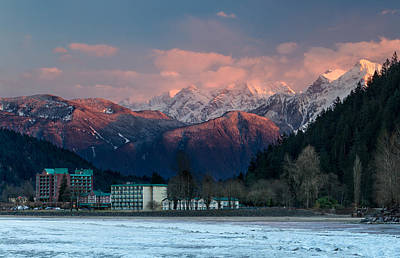 Harrison Hot Springs Wall Art - Photograph - Harrison Hot Springs And Mount Cheam Range by Michael Russell