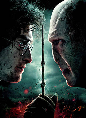 Deathly Hallows Digital Art - Harry Potter And The Deathly Hallows Part II 2011  by Fine Artist