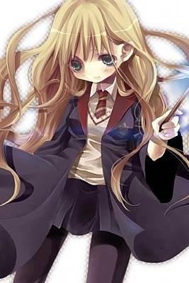 Hermione Granger Digital Art - Harry Potter Hermione Granger Girl Cloak Wand 33750 300x450 by Anne Pool