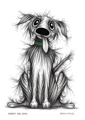 Harry The Dog Art Print by Keith Mills