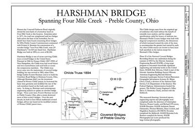 Music Royalty-Free and Rights-Managed Images - Harshman  Covered Bridge  by Jack R Perry