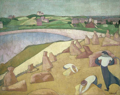 Wheat Painting - Harvest By The Sea by Emile Bernard