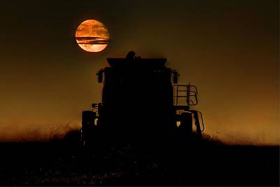 Photograph - Harvest Moon by David Matthews