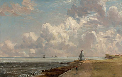English Painting - Harwich, The Low Lighthouse And Beacon Hill by John Constable