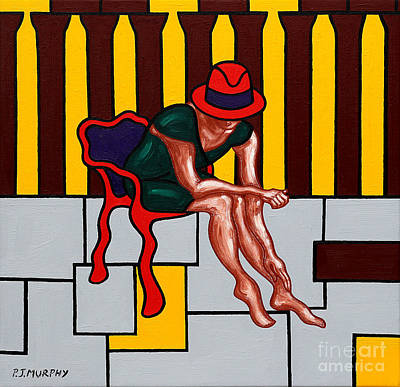Fashion Abstraction Painting - HAT by Patrick J Murphy