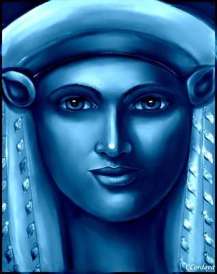 Hathor Digital Art - Hathor -egyptian Goddess by Carmen Cordova