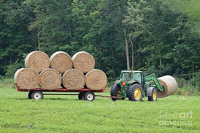 Painting - Hauling Hay by J McCombie