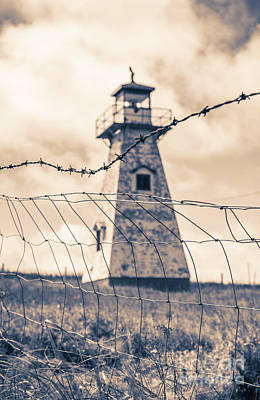 Buidling Photograph - Haunted Lighthouse by Edward Fielding
