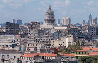 Photograph - Havana Skyline by David Warrington
