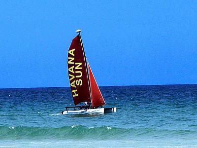 Photograph - Havana Sun Catamaran    by Chris Mercer