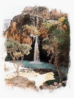 Havasu Falls Photograph - Havasu Falls - Havasupai Indian Reservation by Joseph Hendrix