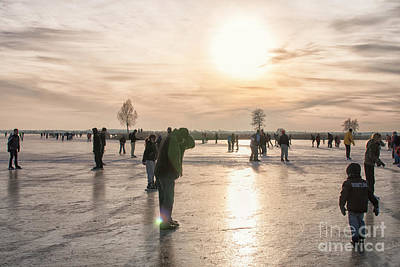 Photograph - Having Fun On Natural Ice by Patricia Hofmeester