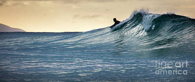 Photograph - Hawaii Bodysurfing Sunset Polihali Beach Kauai  by Dustin K Ryan