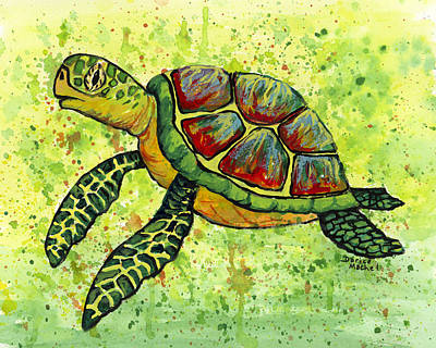 Painting - Hawaiian Sea Turtle 3 by Darice Machel McGuire