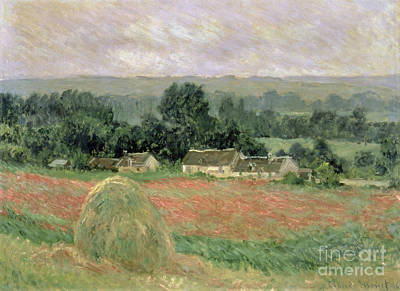 Painting - Haystack At Giverny by Celestial Images