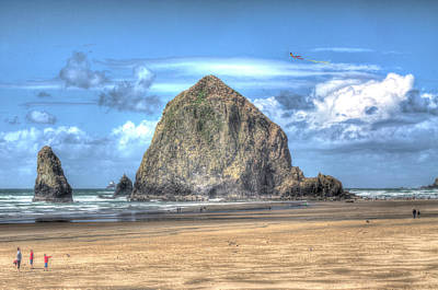 Photograph - Haystack Rock by Don Wolf