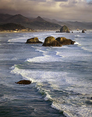 Urban Abstracts - Haystacks and Waves Cannon Beach by Bob Neiman