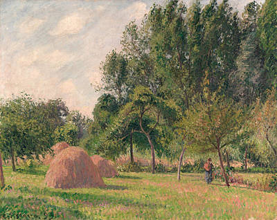 Haystacks, Morning, Eragny Art Print by Camille Pissarro