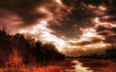 Sunset Digital Art - HDR by Maye Loeser