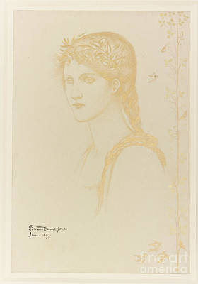 Head Of A Girl  Art Print