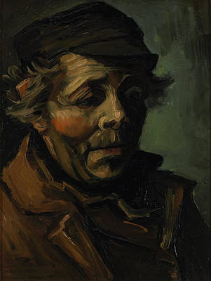 Van Gogh Painting - Head Of A Peasant With Cap by Vincent van Gogh